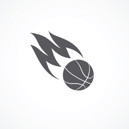 basketball ball on fire: Basketball icon