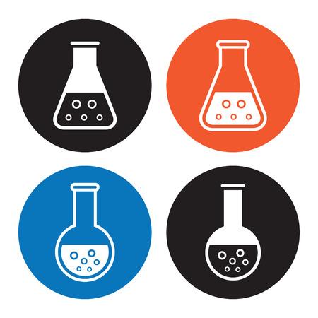 Laboratory equipment icons Vector