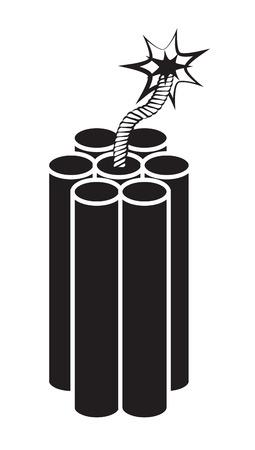 dinamita: Dinamita en el fondo blanco