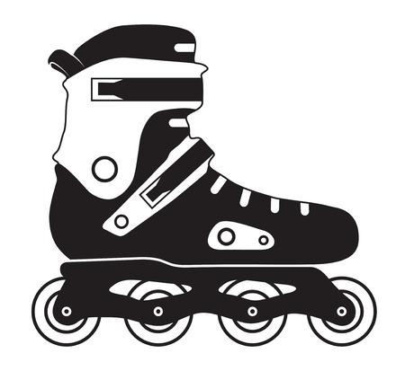 Roller skate on white background Vector