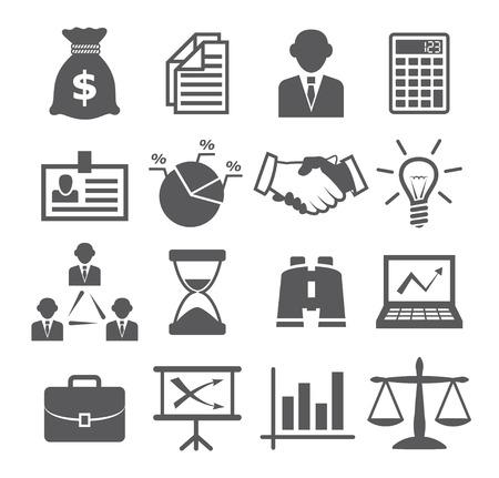 Iconos de negocios Foto de archivo - 27200177