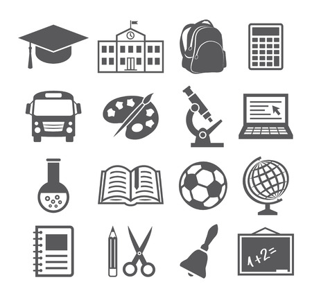 school website: School and Education Icons