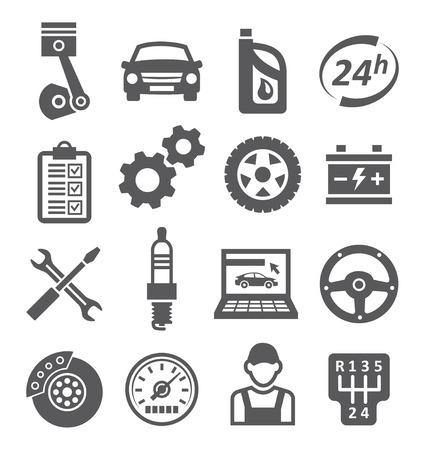 Auto-Ikonen Standard-Bild - 27711836