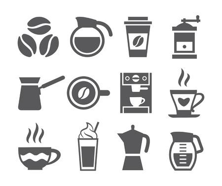 コーヒーのアイコン  イラスト・ベクター素材