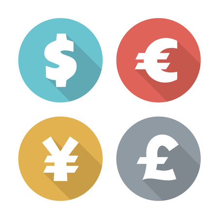converter: Currency modern flat icons Illustration