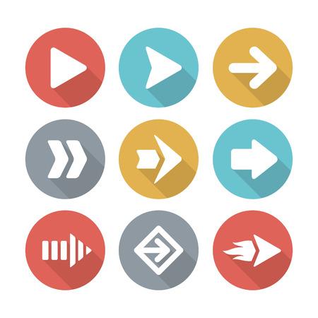 Arrow modern flat icons