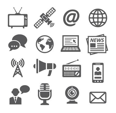 microfono de radio: Iconos de medios