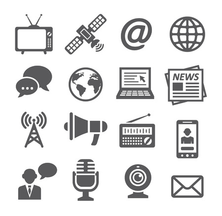 news icon: Media Icons Illustration