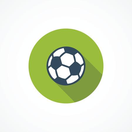 サッカー近代的なフラット アイコン  イラスト・ベクター素材