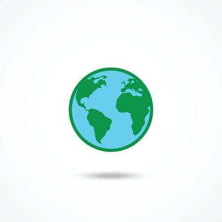 Planet Earth Icon 일러스트
