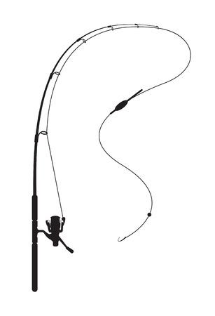 izole nesneleri: Beyaz zemin üzerine Balıkçılık çubuk