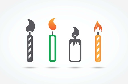 paraffin: Candle icons