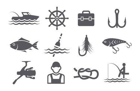 bait box: Fishing icons