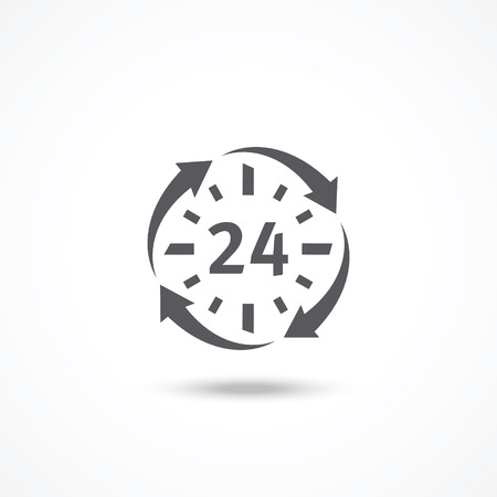 Open 24 hours a day icon