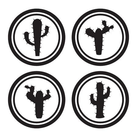 cactus flower: Cactus icons