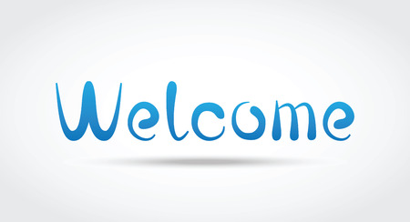 locution: Welcome Vector Lettering Illustration
