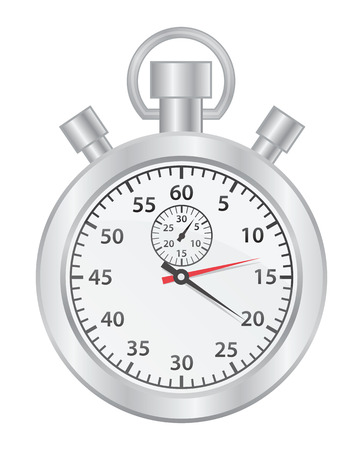 stop watch: Stop watch on white background