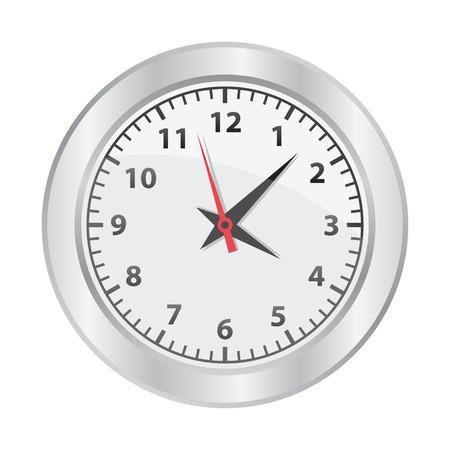 orologio da parete: Orologio meccanico su sfondo bianco