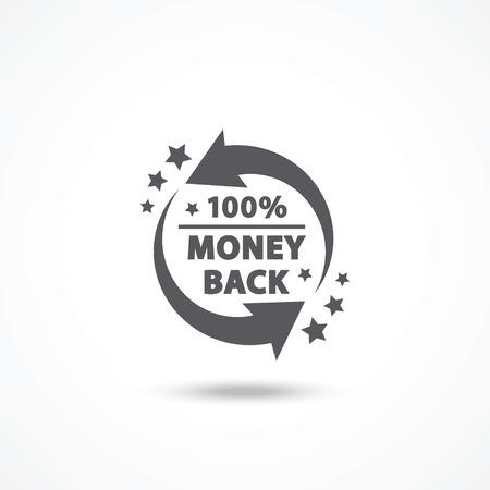 Geld-zurück-label Standard-Bild - 32704550