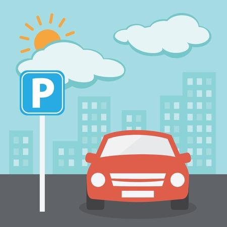 car parking: Parking Illustration