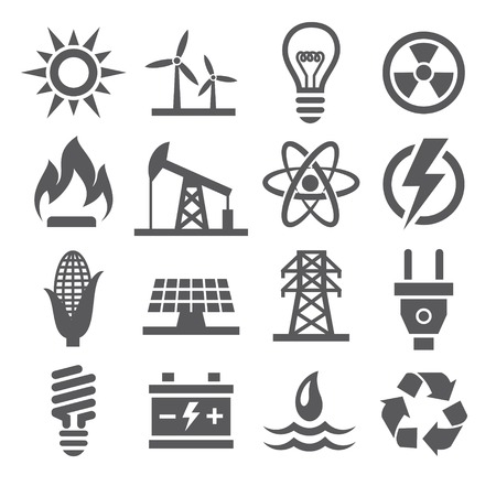 gases: Energy icons