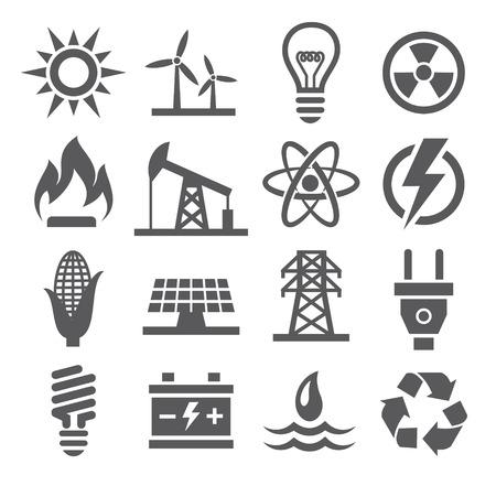 Icônes d'énergie Banque d'images - 34609978