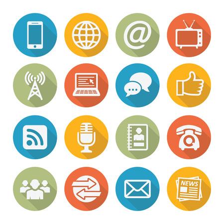 Communication icons  イラスト・ベクター素材