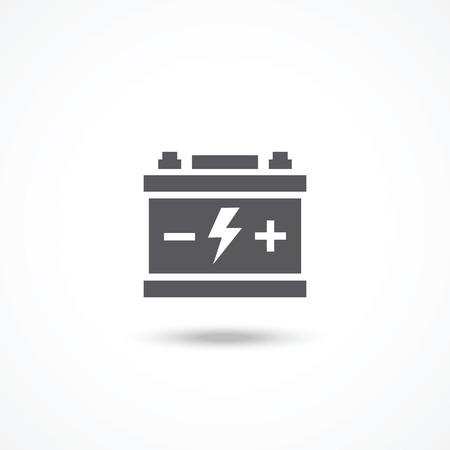 Car battery icon Illustration