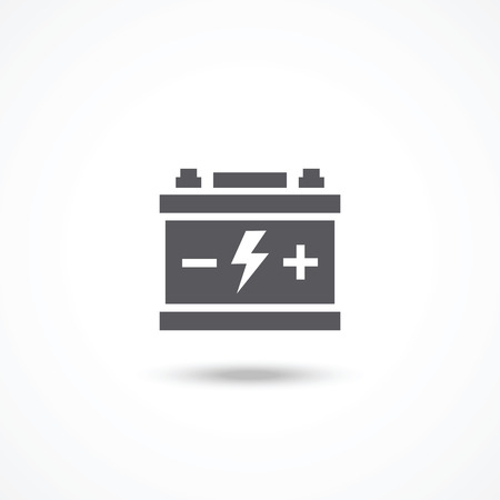 Car battery icon Illustration