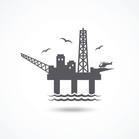 Oil platform icon Illustration