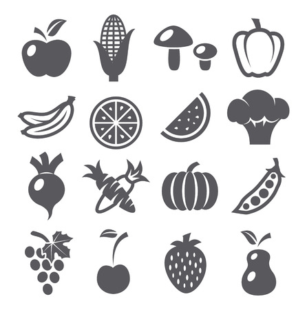 fresh vegetable: Fruits and vegetables icons