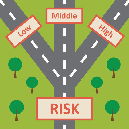 financial reward: Risk Concept Illustration