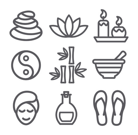 Spa line icons Illustration