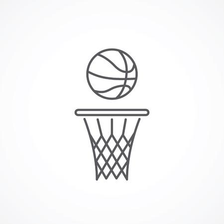 Basketball line icon Stock Illustratie