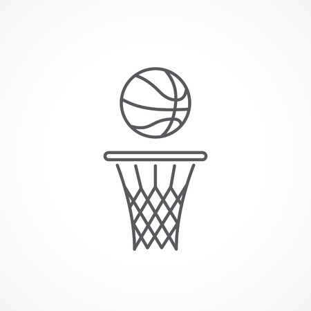 Basketball line icon Illustration