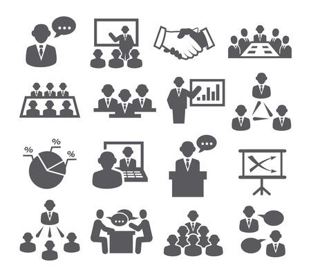 sala de reuniones: Iconos de la Conferencia Vectores