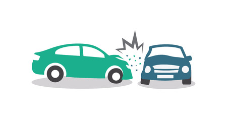 auto accident: Car Crash Illustration