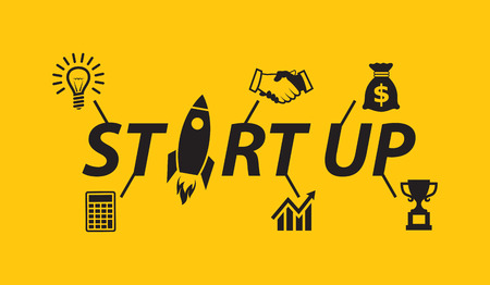 Start up with business icons