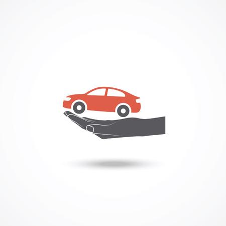 driver license: Car insurance icon