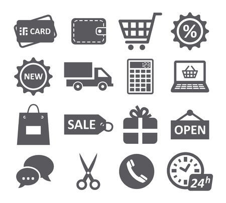 Iconos de Compras Foto de archivo - 38281162