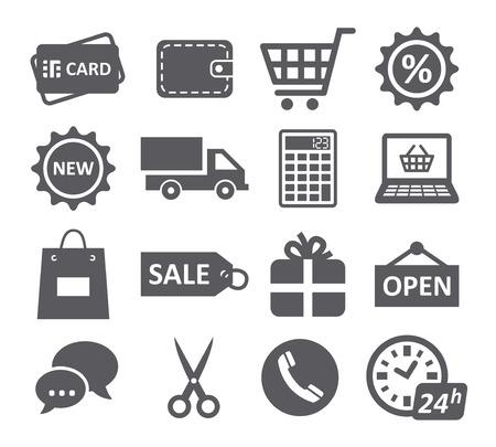 e wallet: Shopping icons Illustration