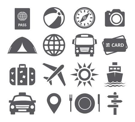 Viajes y turismo iconos Foto de archivo - 38278987