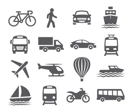 Közlekedési ikonok Illusztráció