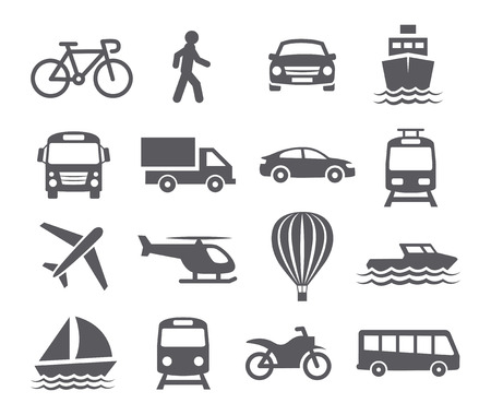 transportation icons: Transport icons