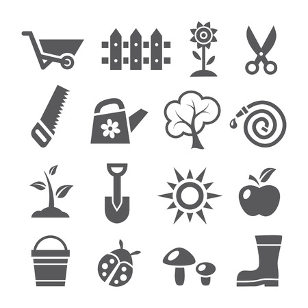 green tree: Gardening icons