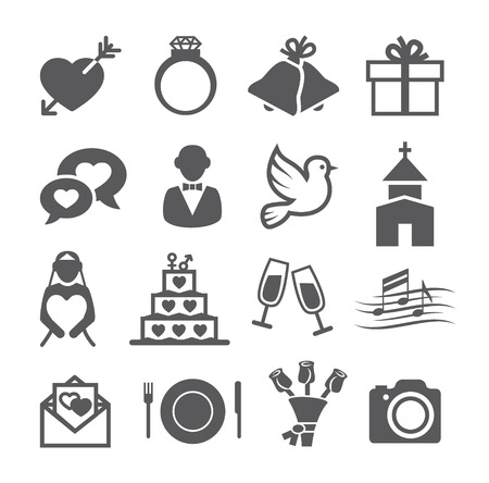Wedding icons Illustration