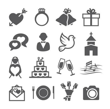 Wedding icons Stock Illustratie
