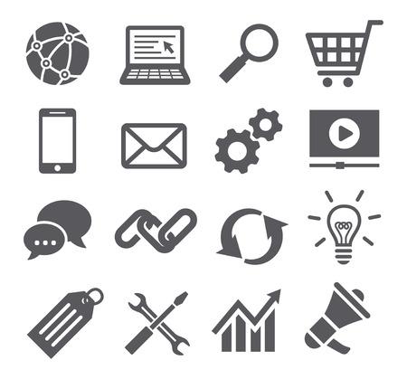 SEO icons Illustration
