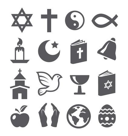 Religion icons Illustration