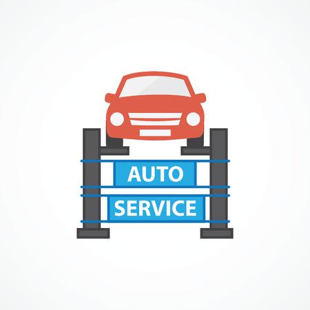 auto service: Auto Service illustration isolated on white background